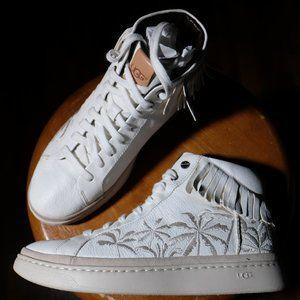 UGG Cali High Fringe Palm Sneakers